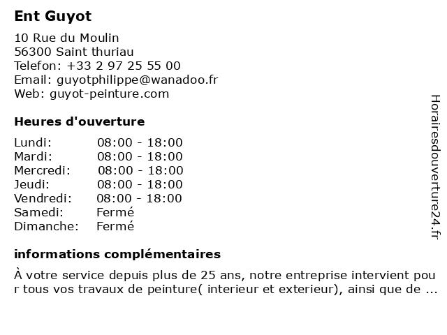 Ent Guyot à Sourn (le): adresse et heures d'ouverture