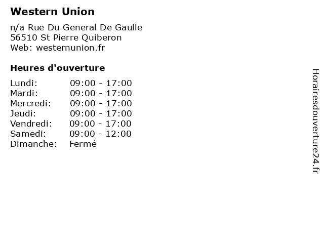 Western Union à St Pierre Quiberon: adresse et heures d'ouverture