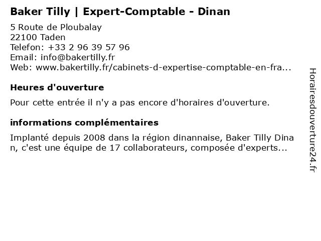 Baker Tilly Strego à Taden: adresse et heures d'ouverture