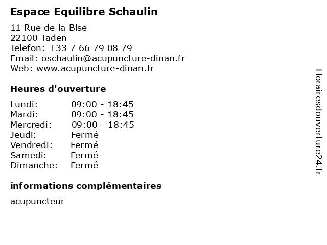 Espace Equilibre Schaulin à Taden: adresse et heures d'ouverture