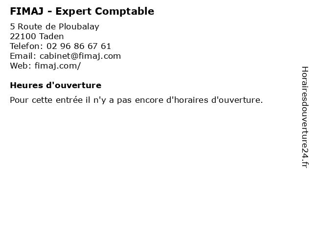 FIMAJ - Expert Comptable à Taden: adresse et heures d'ouverture