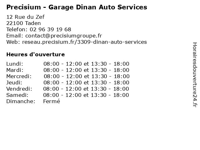 Garage Dinan Auto Services - Distinxion à Taden: adresse et heures d'ouverture