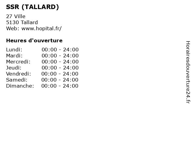 SSR (TALLARD) à Tallard: adresse et heures d'ouverture