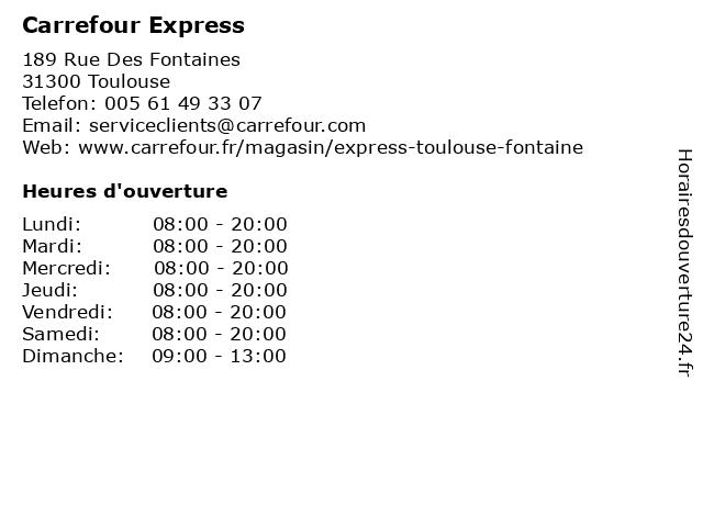 Carrefour Express à Toulouse: adresse et heures d'ouverture