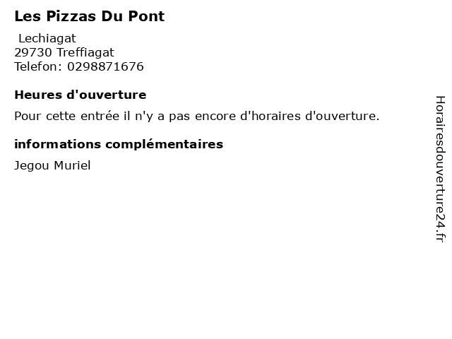 Les Pizzas Du Pont à Treffiagat: adresse et heures d'ouverture