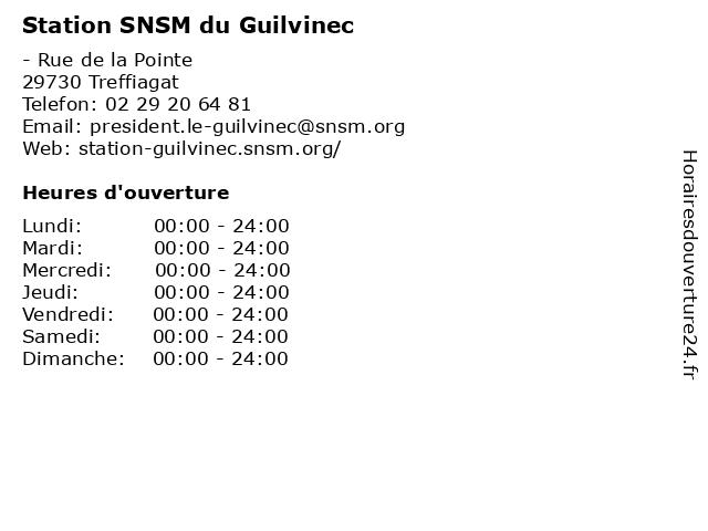 Station SNSM du Guilvinec à Treffiagat: adresse et heures d'ouverture