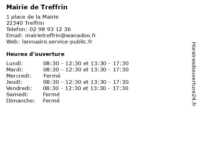 Mairie de Treffrin à Treffrin: adresse et heures d'ouverture