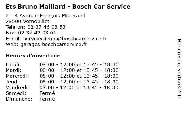 Ets Bruno Maillard - Bosch Car Service à Vernouillet: adresse et heures d'ouverture
