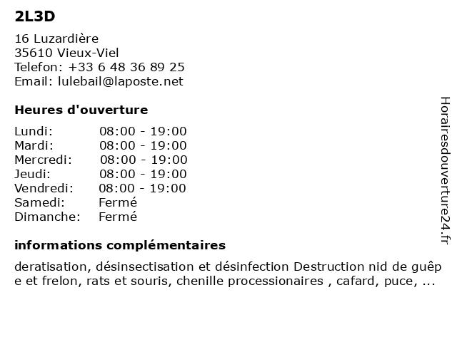 2L3D à Vieux-Viel: adresse et heures d'ouverture