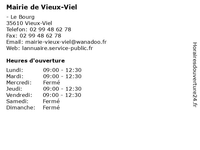Mairie de Vieux-Viel à Vieux-Viel: adresse et heures d'ouverture