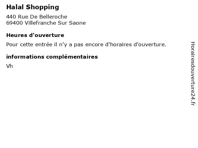 Halal shopping horaires d 39 ouverture 440 rue de - Horaire piscine belleville sur saone ...