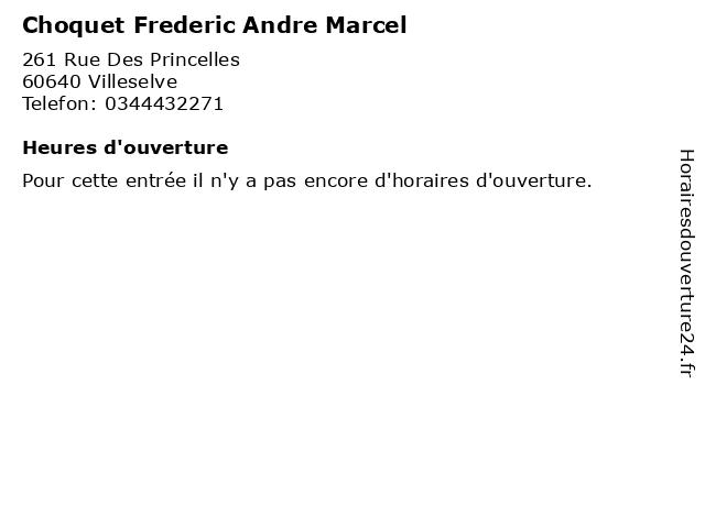 Choquet Frederic Andre Marcel à Villeselve: adresse et heures d'ouverture