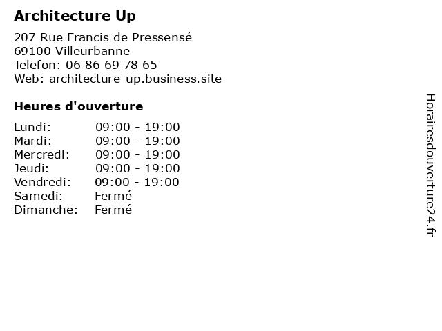 Architecture Up à Villeurbanne: adresse et heures d'ouverture