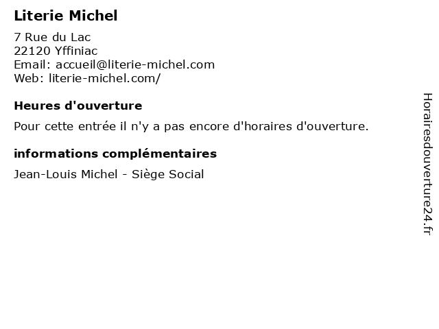 Literie Michel à Yffiniac: adresse et heures d'ouverture