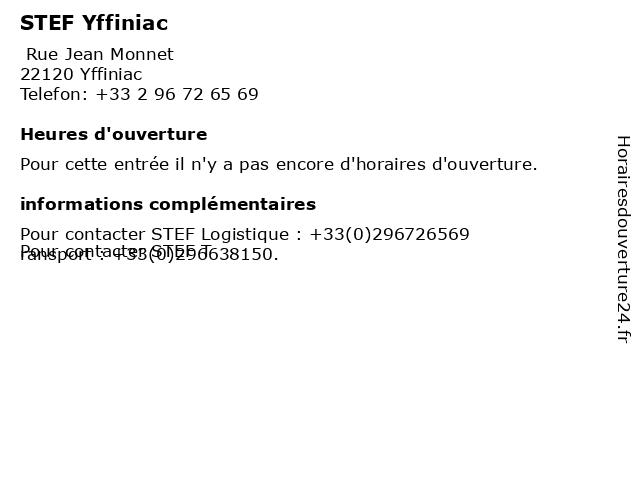 STEF Yffiniac à Yffiniac: adresse et heures d'ouverture